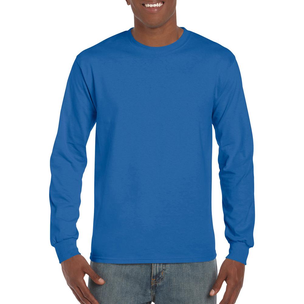 miniature 25 - T-shirt-uni-a-manches-longues-Gildan-100-coton-pour-homme-S-2XL-BC477