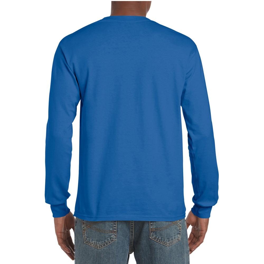 miniature 26 - T-shirt-uni-a-manches-longues-Gildan-100-coton-pour-homme-S-2XL-BC477