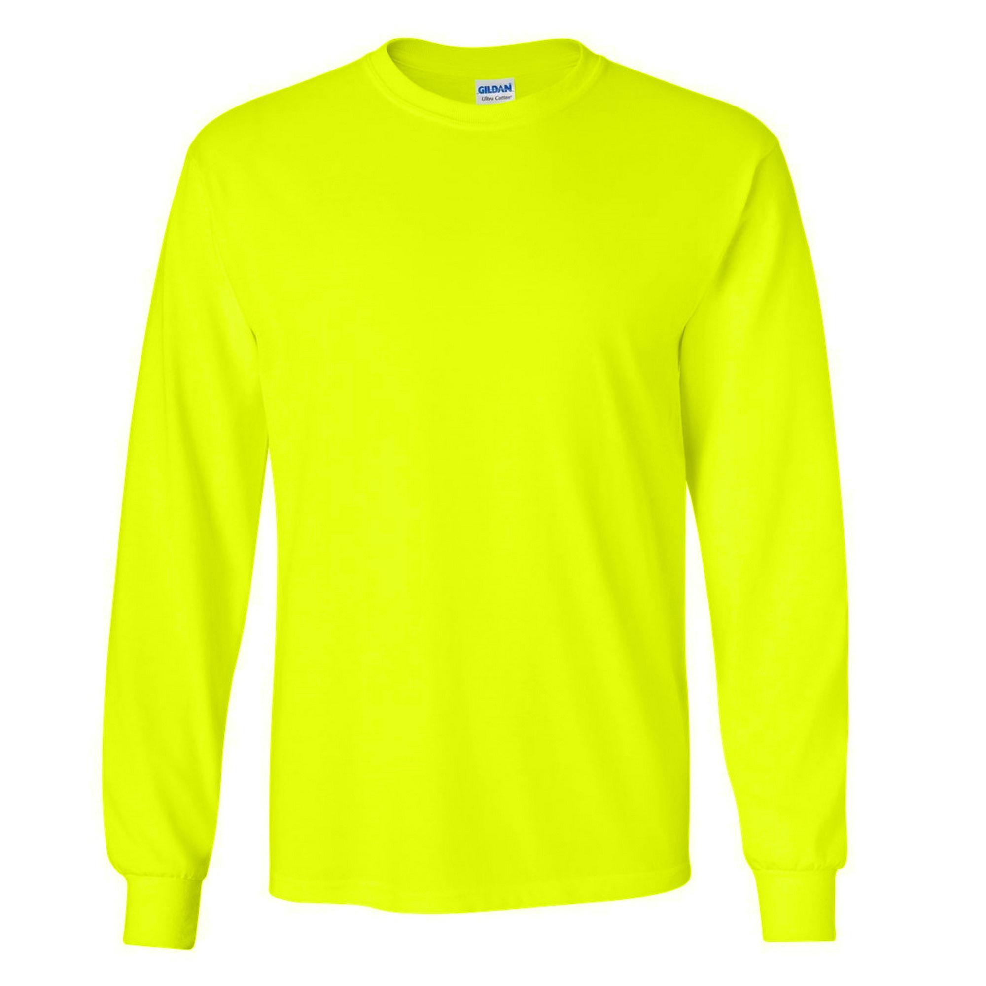 miniature 45 - T-shirt-uni-a-manches-longues-Gildan-100-coton-pour-homme-S-2XL-BC477