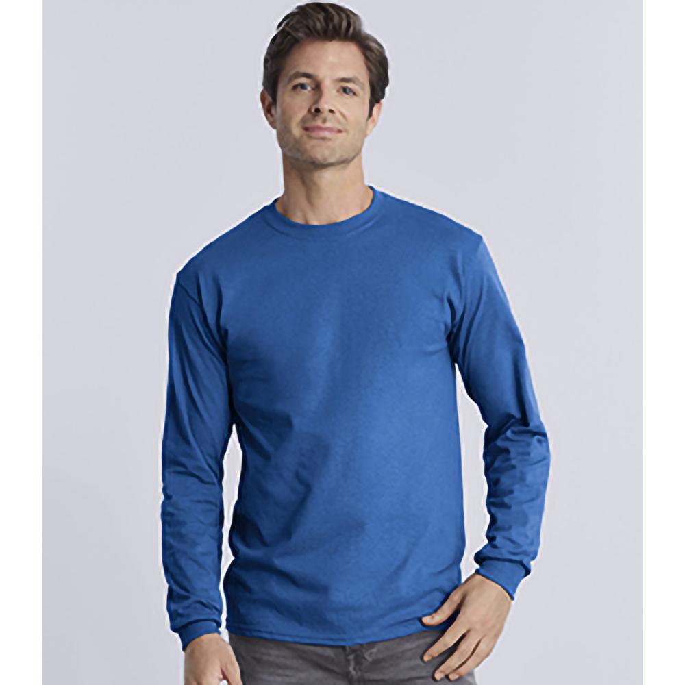 miniature 27 - T-shirt-uni-a-manches-longues-Gildan-100-coton-pour-homme-S-2XL-BC477