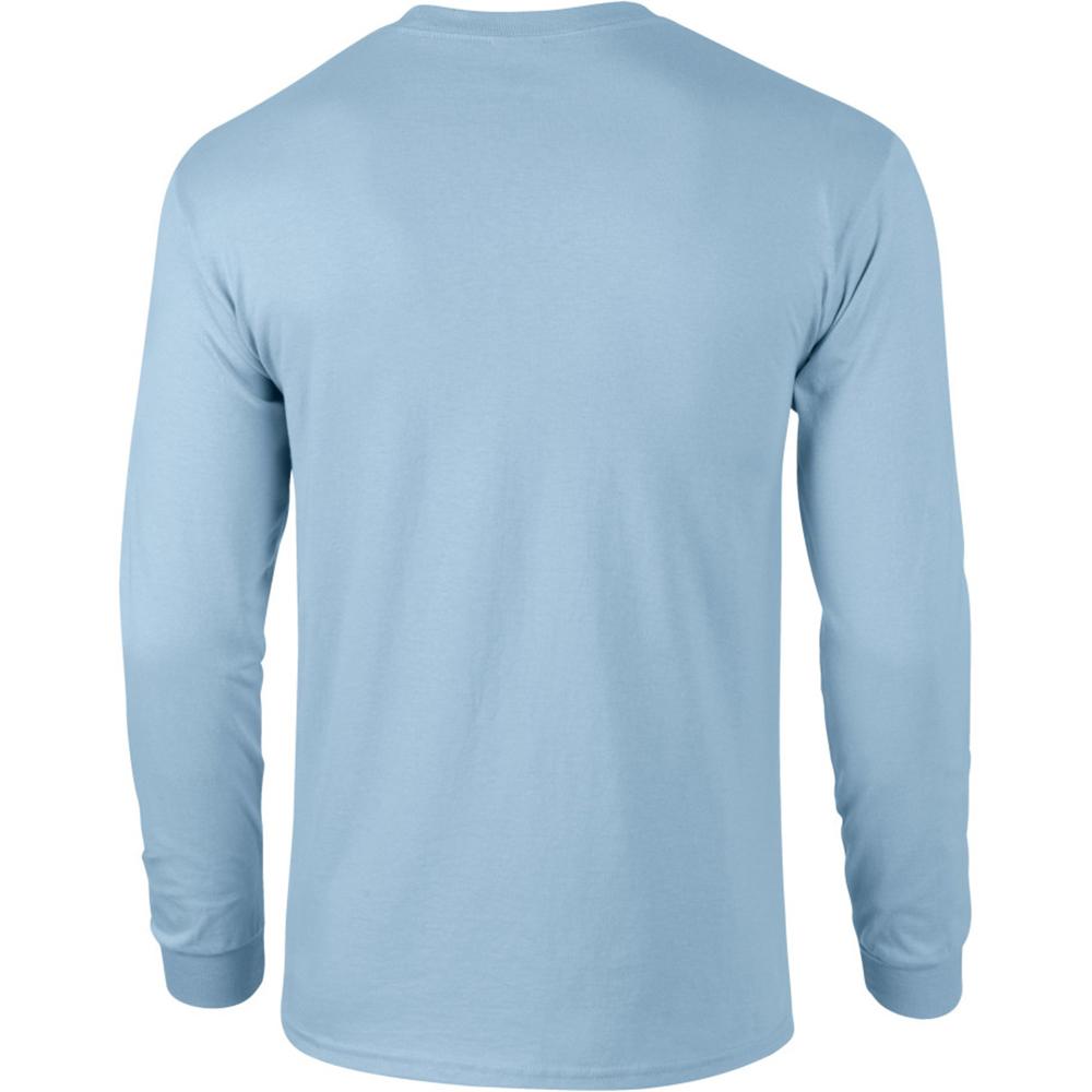 miniature 13 - T-shirt-uni-a-manches-longues-Gildan-100-coton-pour-homme-S-2XL-BC477