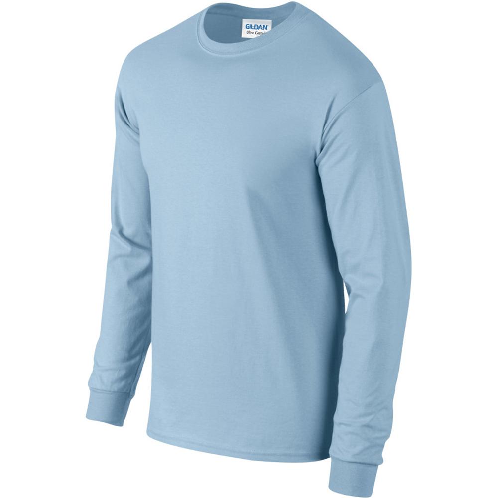 miniature 14 - T-shirt-uni-a-manches-longues-Gildan-100-coton-pour-homme-S-2XL-BC477