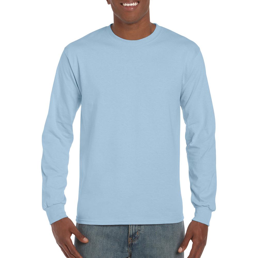 miniature 15 - T-shirt-uni-a-manches-longues-Gildan-100-coton-pour-homme-S-2XL-BC477