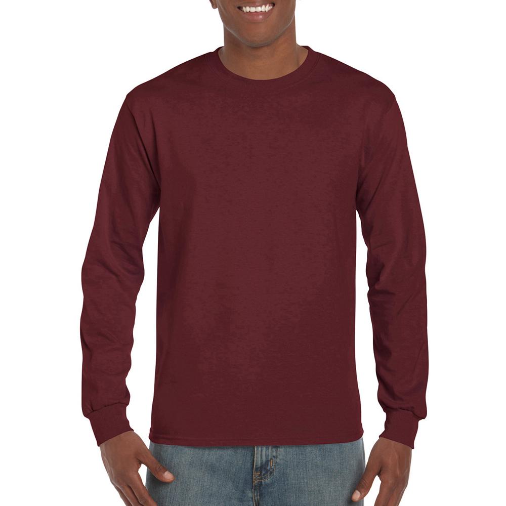 miniature 31 - T-shirt-uni-a-manches-longues-Gildan-100-coton-pour-homme-S-2XL-BC477