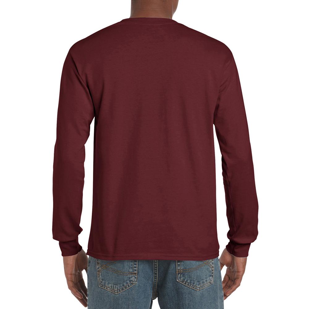 miniature 32 - T-shirt-uni-a-manches-longues-Gildan-100-coton-pour-homme-S-2XL-BC477