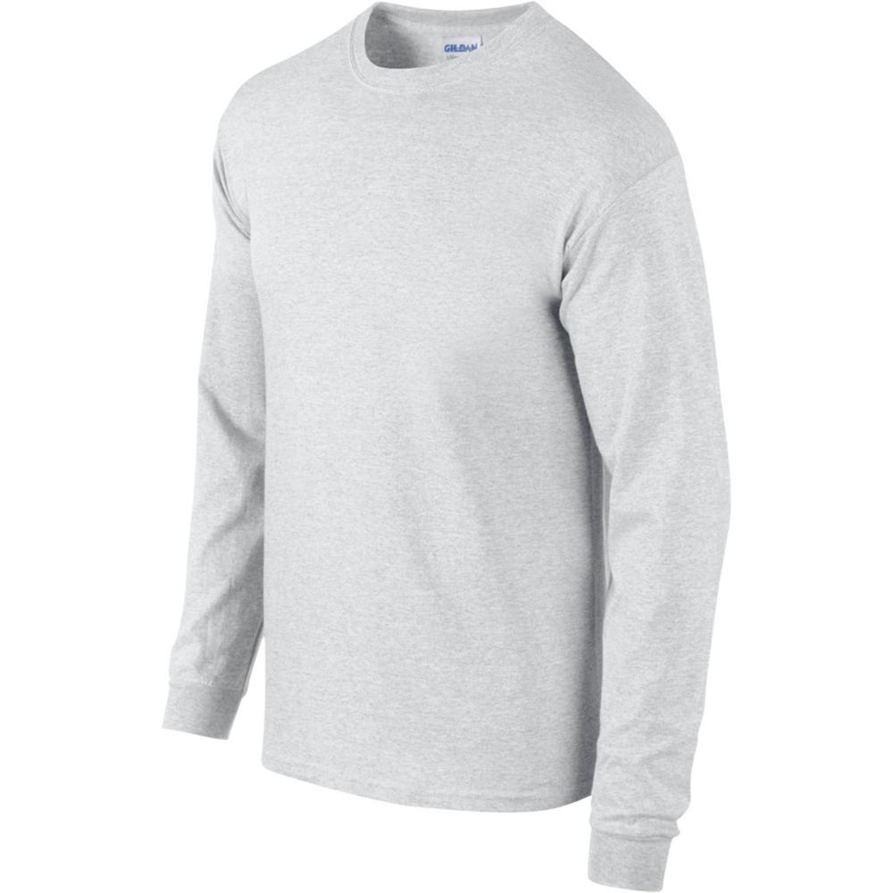miniature 40 - T-shirt-uni-a-manches-longues-Gildan-100-coton-pour-homme-S-2XL-BC477