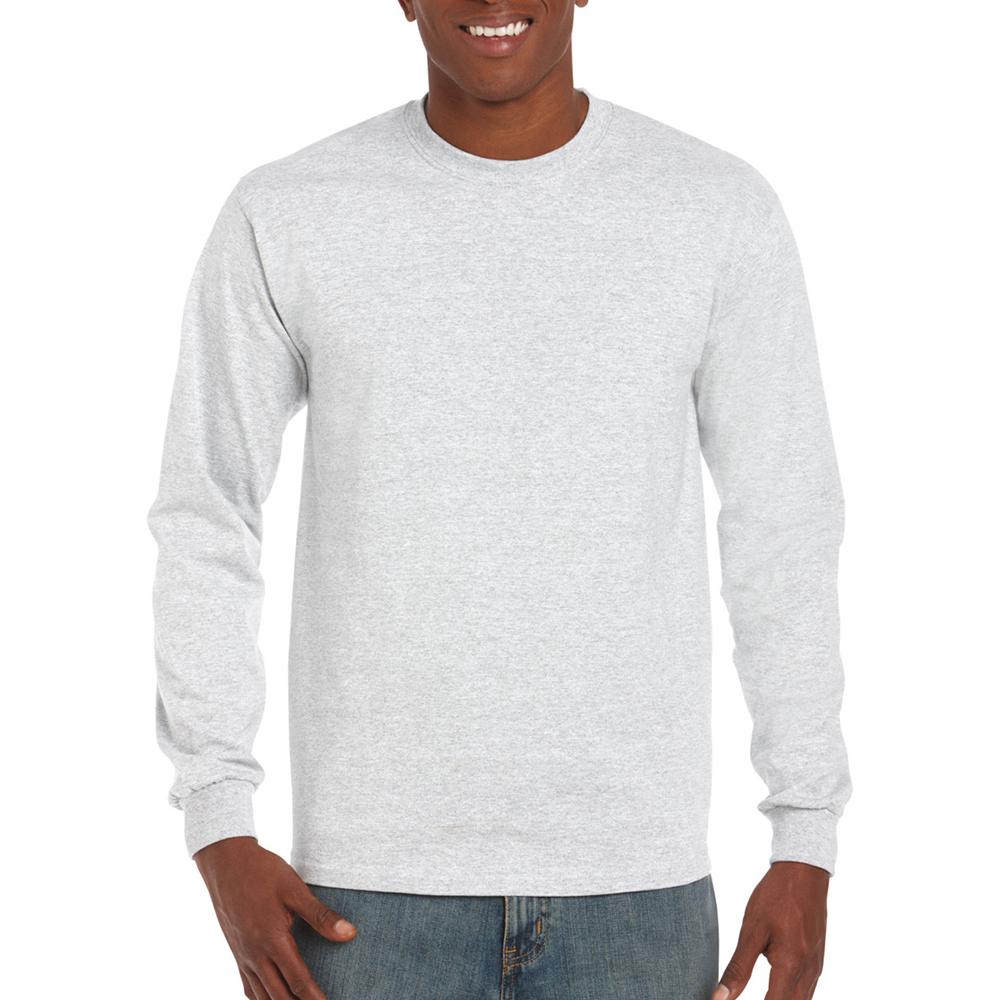 miniature 41 - T-shirt-uni-a-manches-longues-Gildan-100-coton-pour-homme-S-2XL-BC477