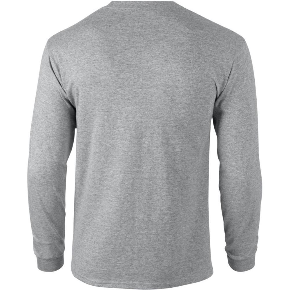 miniature 53 - T-shirt-uni-a-manches-longues-Gildan-100-coton-pour-homme-S-2XL-BC477