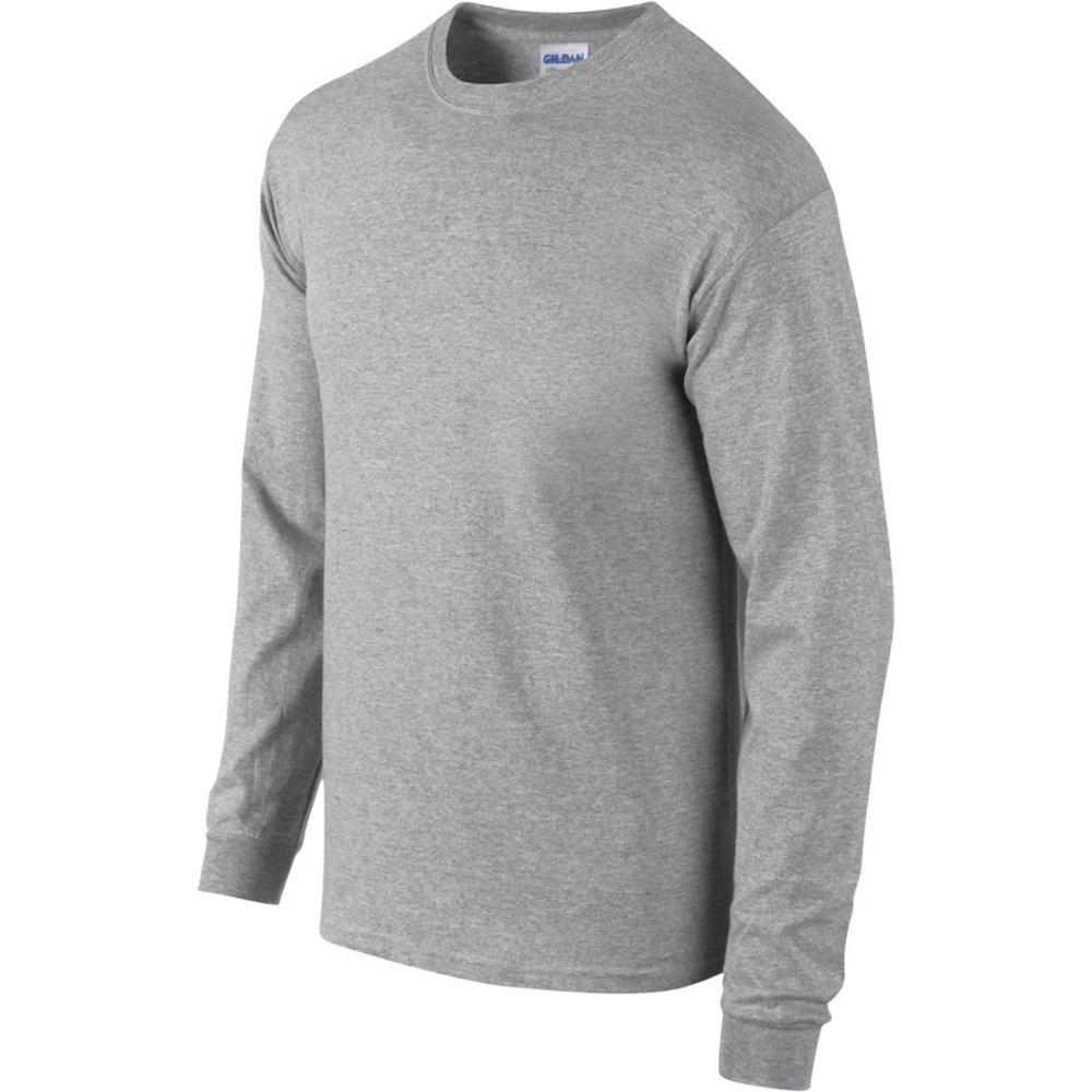miniature 54 - T-shirt-uni-a-manches-longues-Gildan-100-coton-pour-homme-S-2XL-BC477