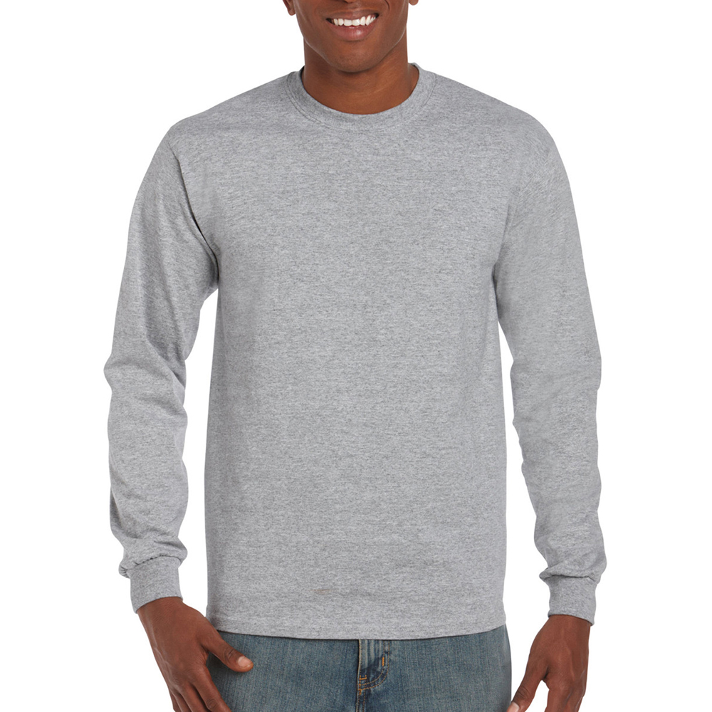 miniature 55 - T-shirt-uni-a-manches-longues-Gildan-100-coton-pour-homme-S-2XL-BC477