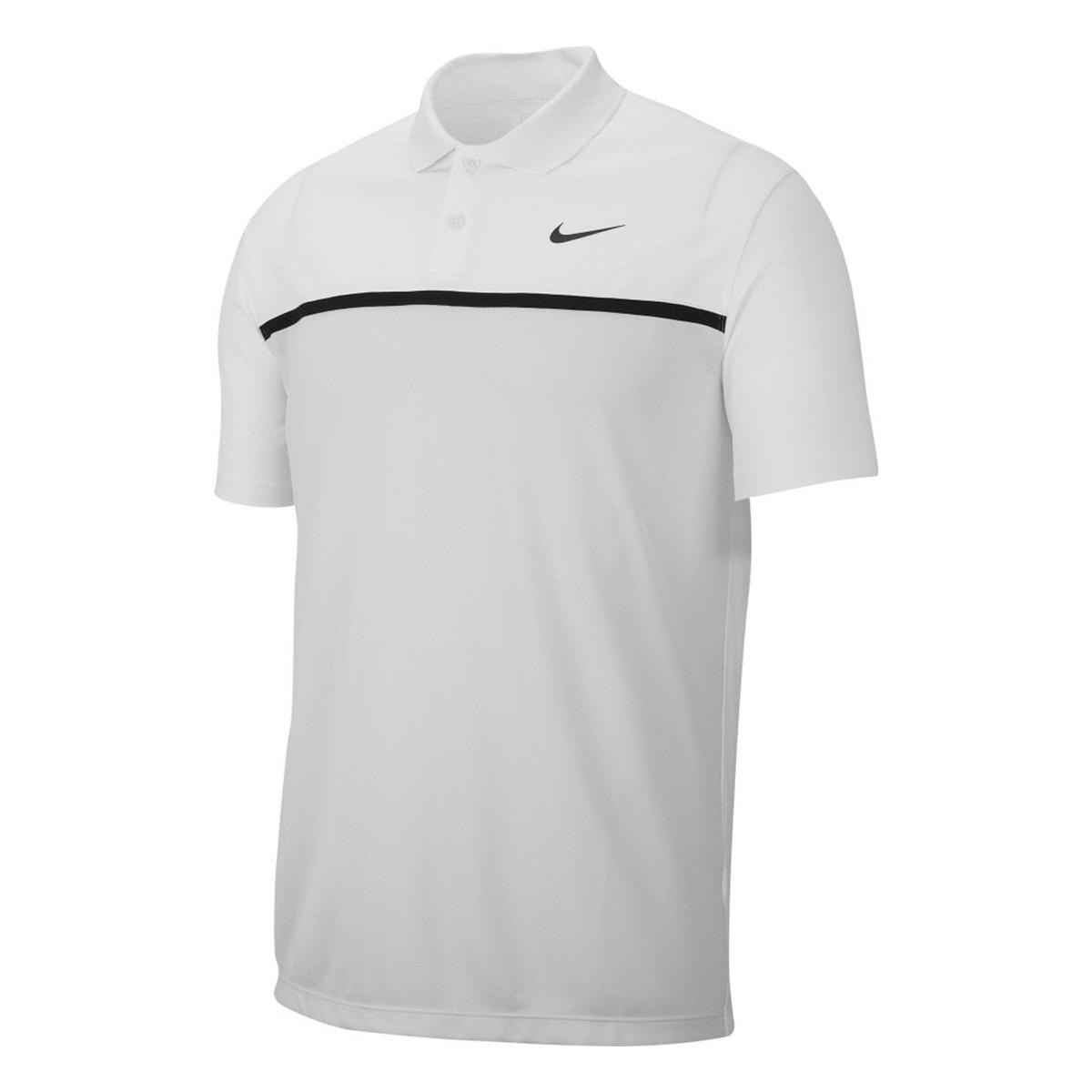 Nike Mens Victory Colour Block Polo Shirt (XXL) (Black/White/Sky Grey)