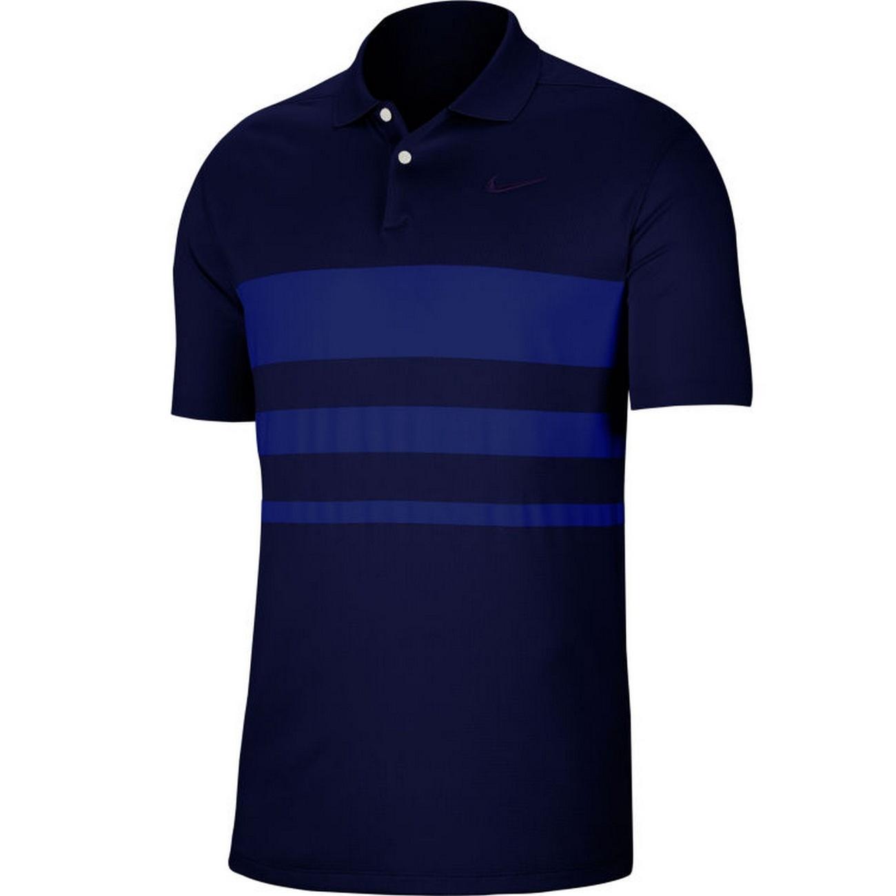 Nike Mens Vapour Striped Polo Shirt (L) (Navy/Deep Royal Blue)