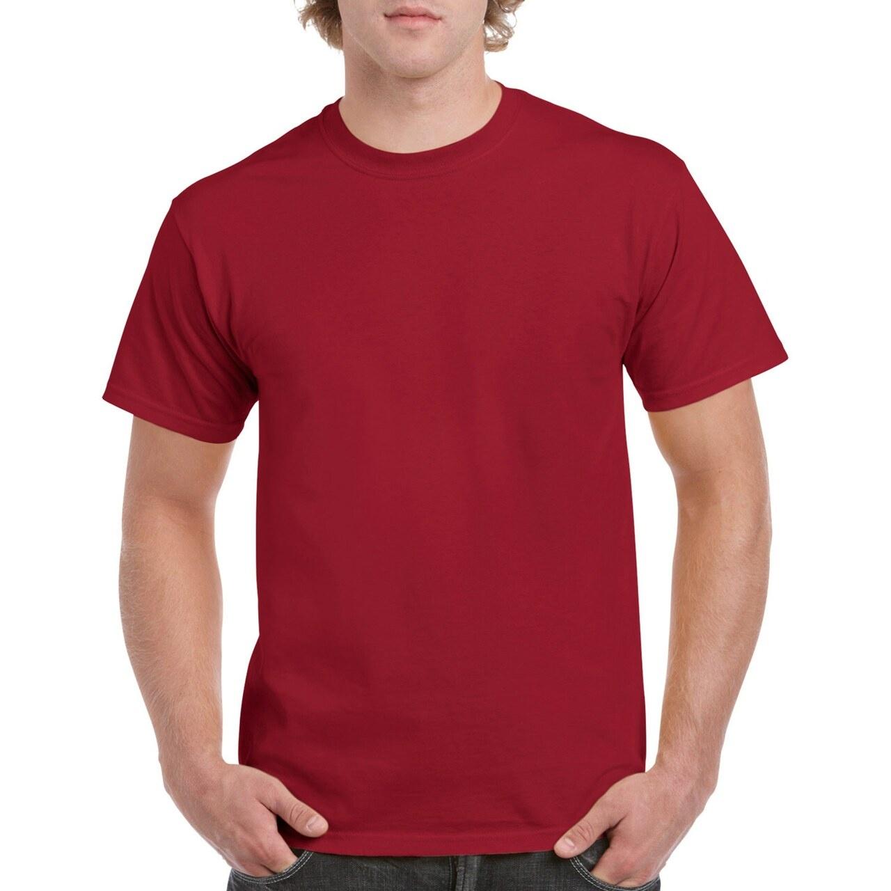 Gildan Mens Heavy Cotton Short Sleeve T-Shirt (Pack Of 5) (L) (Black)