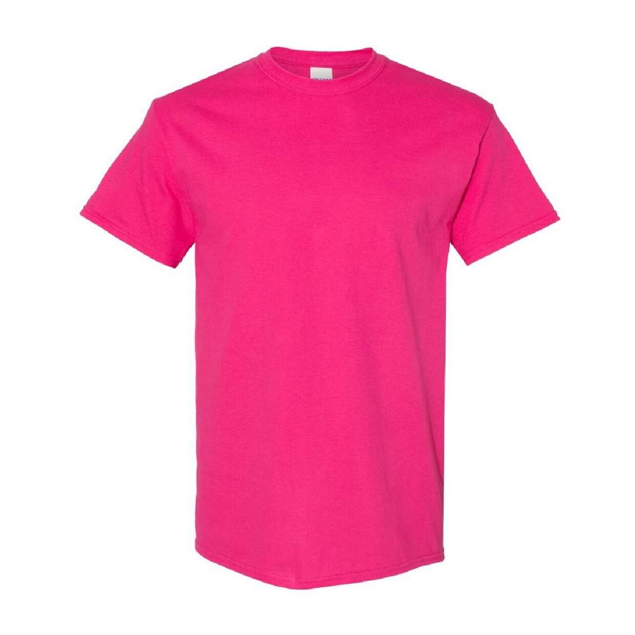 Gildan Mens Heavy Cotton Short Sleeve T-Shirt (Pack Of 5) (XL) (Forest Green)