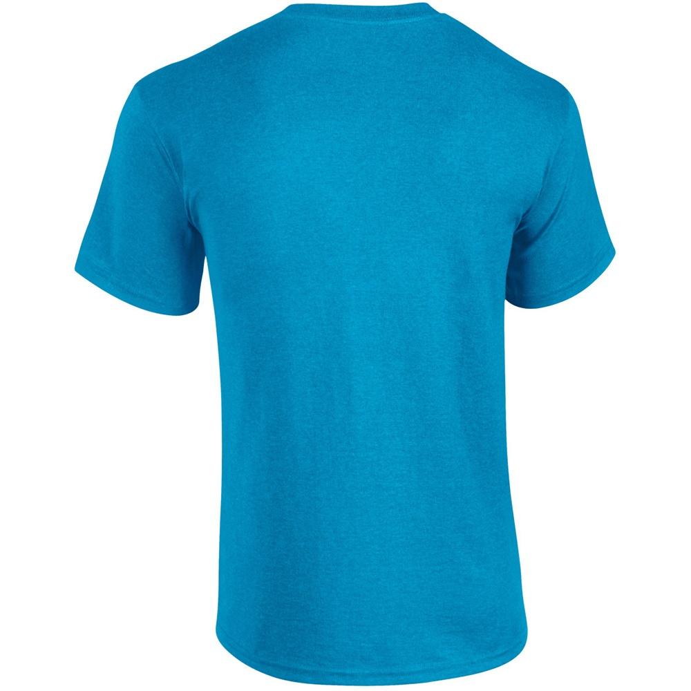 Gildan Mens Heavy Cotton Short Sleeve T-Shirt (M) (Heather Sapphire)