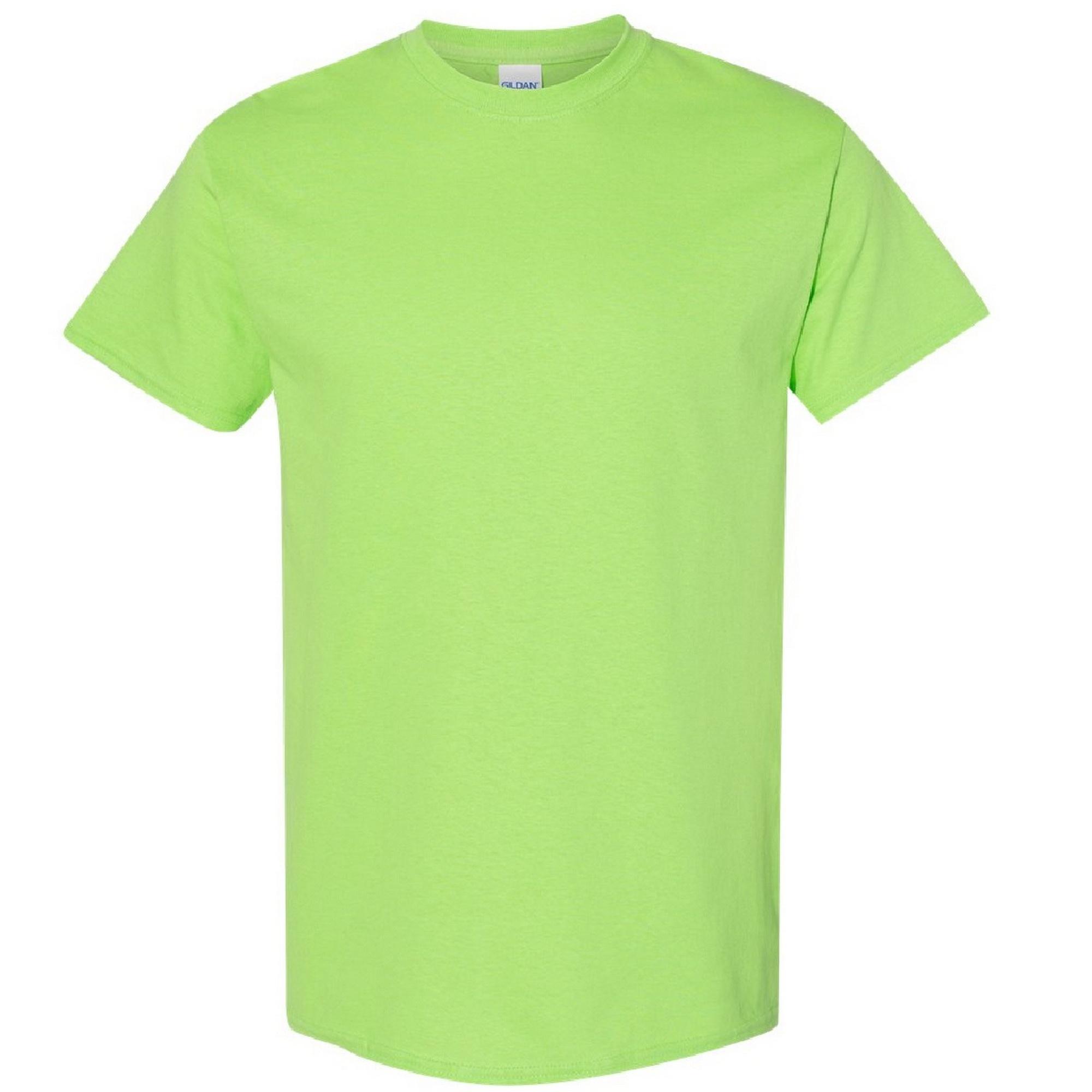 Gildan Mens Heavy Cotton Short Sleeve T-Shirt (L) (Lime)
