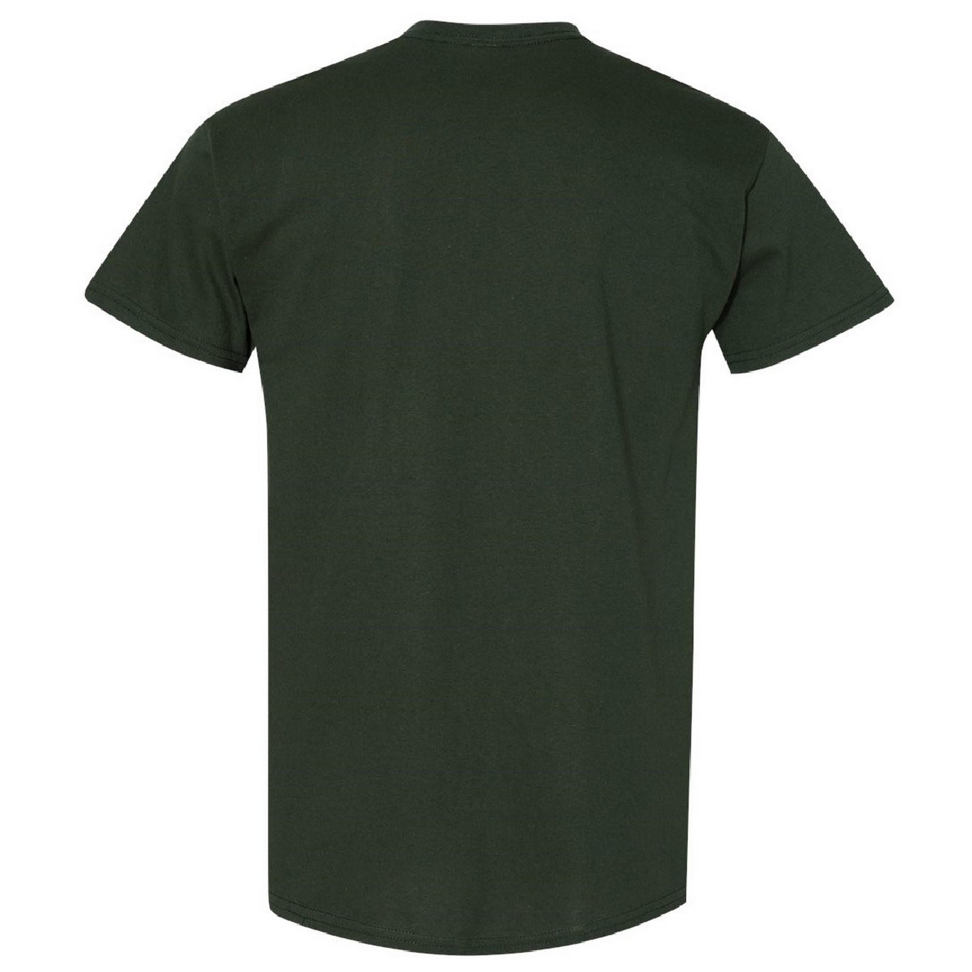 Gildan Mens Heavy Cotton Short Sleeve T-Shirt (2XL) (Forest Green)