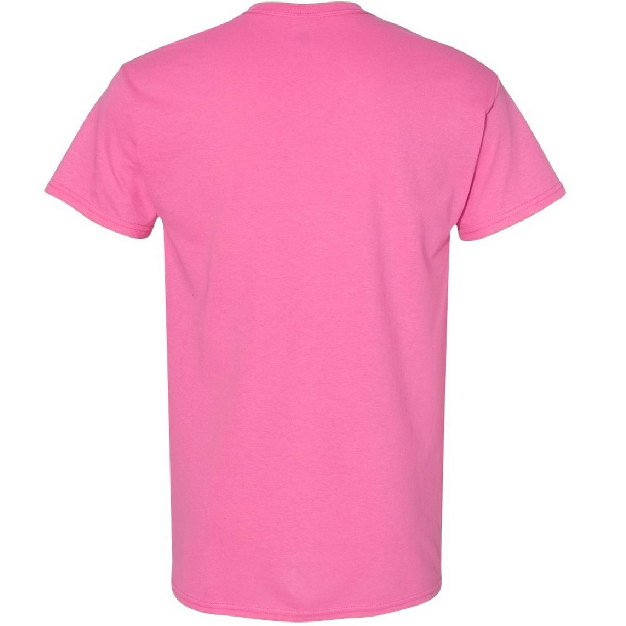 Gildan Mens Heavy Cotton Short Sleeve T-Shirt (2XL) (Azalea)