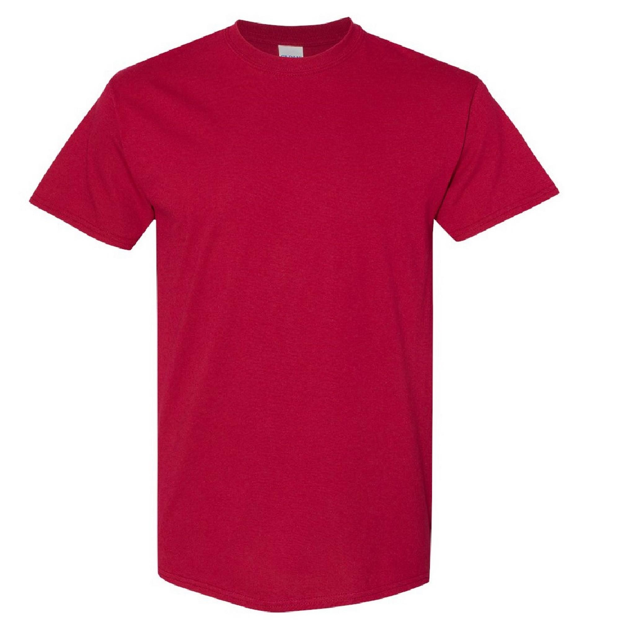 Gildan Mens Heavy Cotton Short Sleeve T-Shirt (S) (Cardinal)