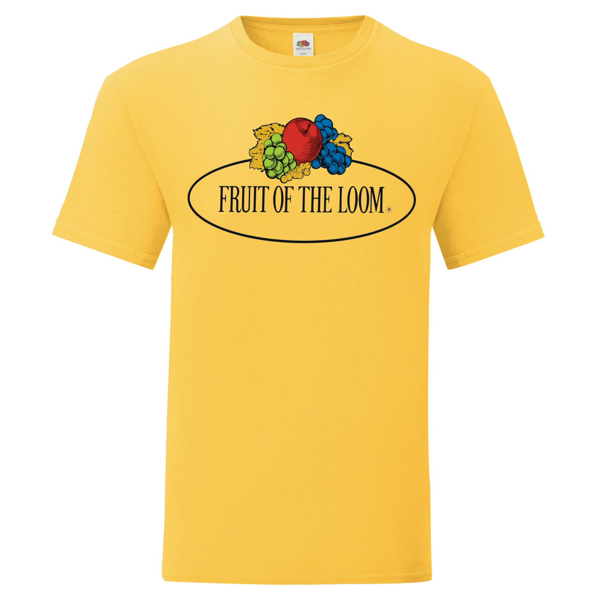 Fruit of the Loom Mens Vintage Big Logo T-Shirt (XL) (Vintage Navy Heather)