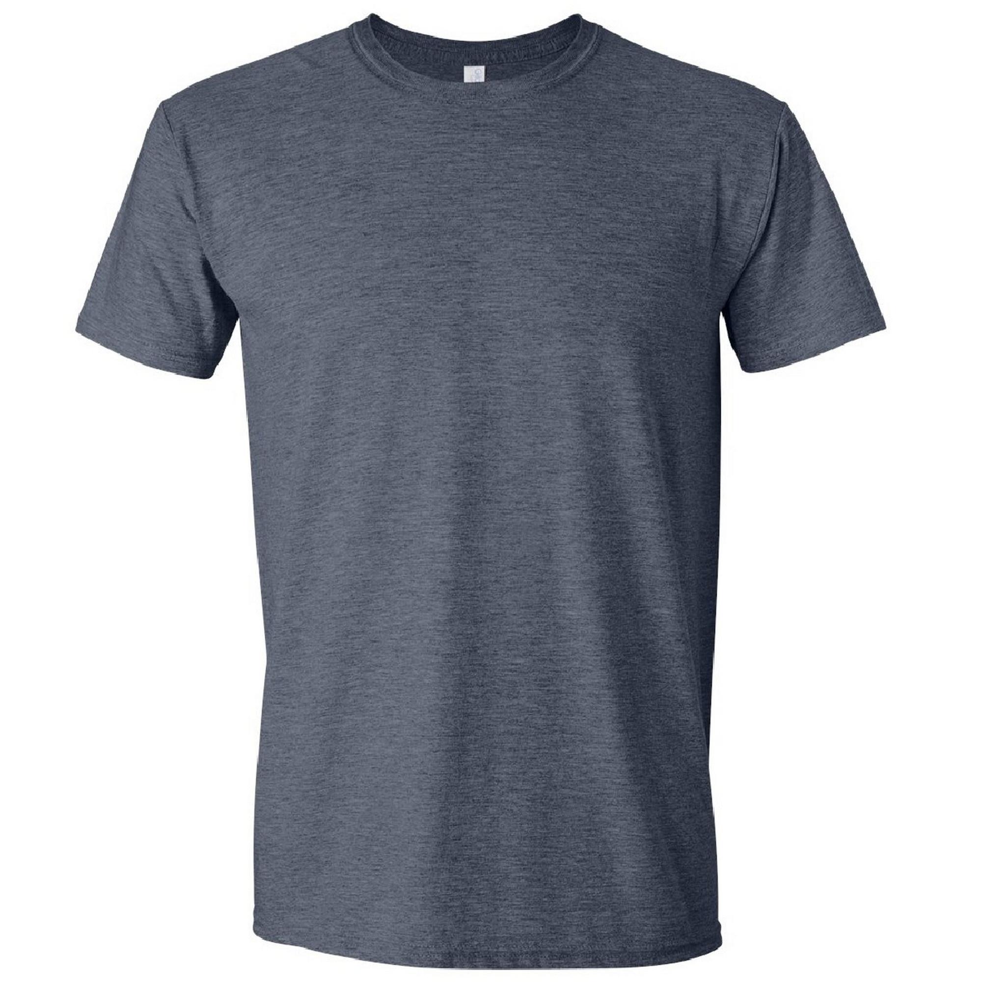 Gildan Mens Short Sleeve Soft-Style T-Shirt (S) (Heather Cardinal)