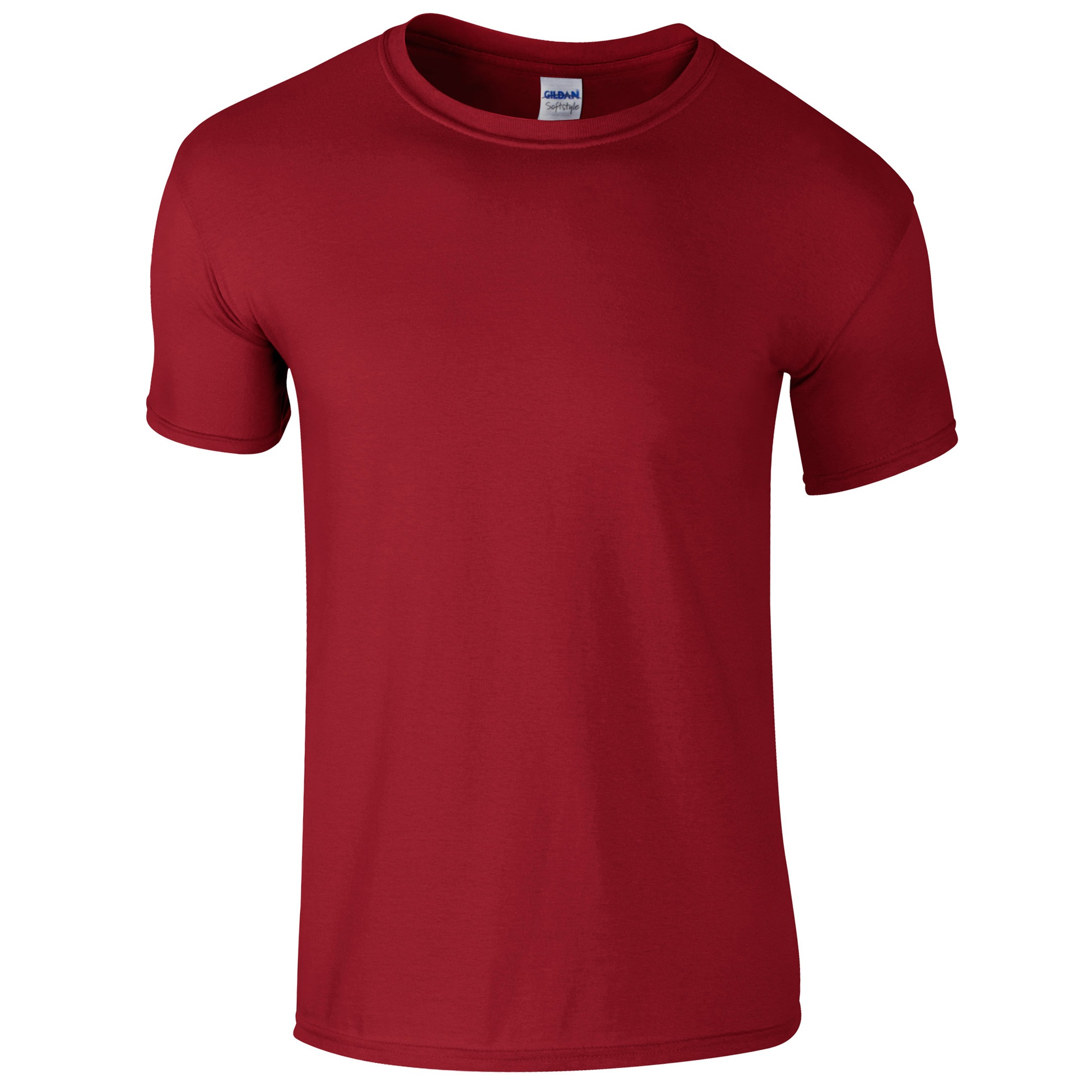 Gildan Mens Short Sleeve Soft-Style T-Shirt (L) (Cardinal)