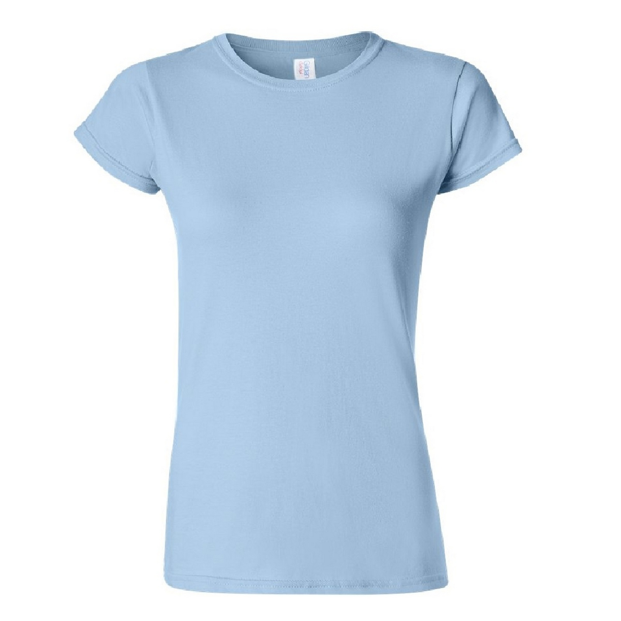 Gildan Ladies Soft Style Short Sleeve T-Shirt (L) (Light Blue)