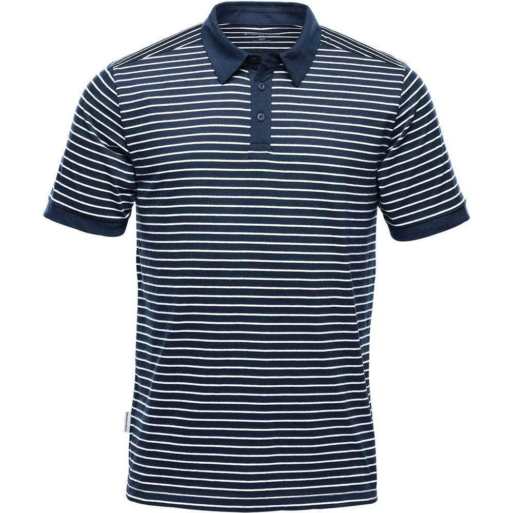 Stormtech Mens Railtown Polo Shirt (L) (Navy/White)
