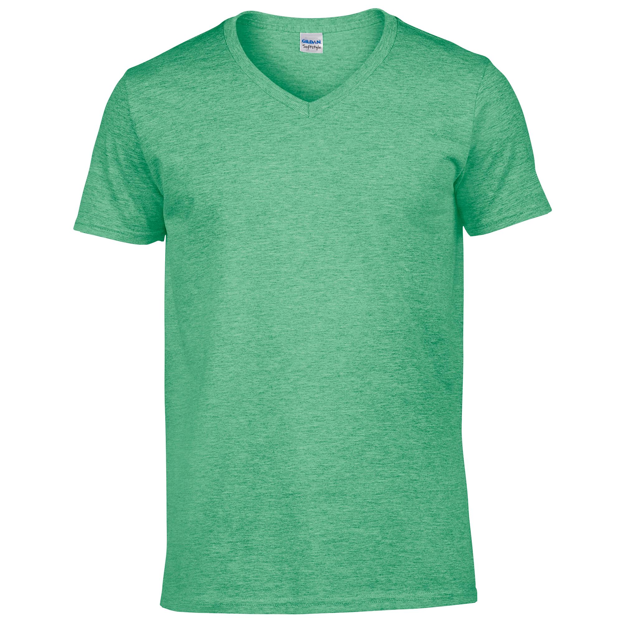 T-shirt à manches courtes et col en V Gildan, 100% coton, pour homme ... 2a86d4446cae