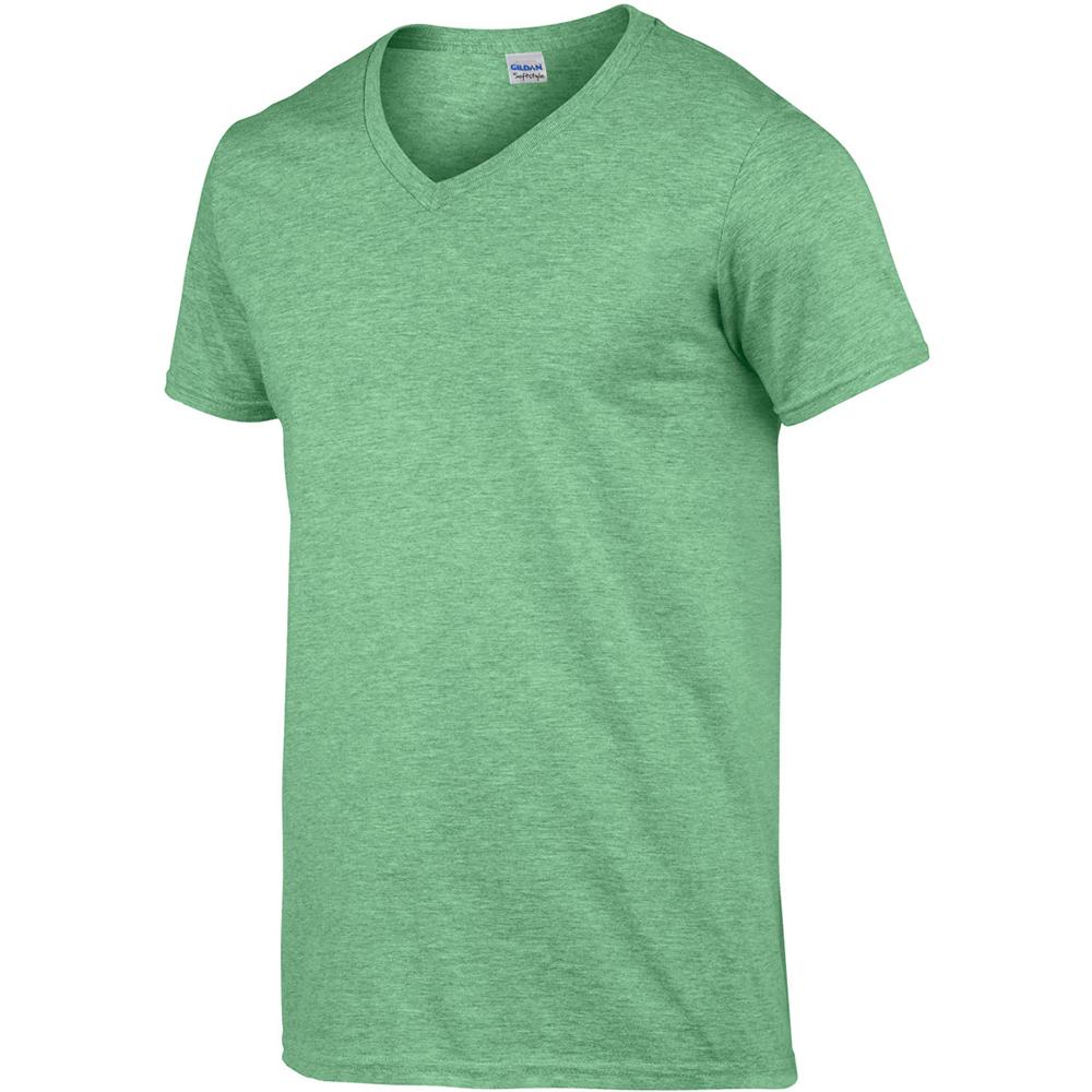 miniature 54 - T-shirt à manches courtes et col en V Gildan, 100% coton, pour homme (BC490)