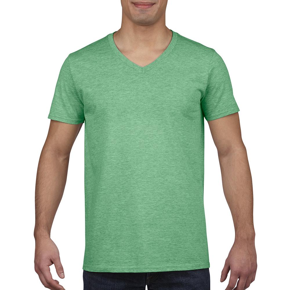 miniature 55 - T-shirt à manches courtes et col en V Gildan, 100% coton, pour homme (BC490)