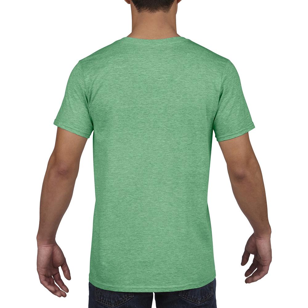 miniature 56 - T-shirt à manches courtes et col en V Gildan, 100% coton, pour homme (BC490)