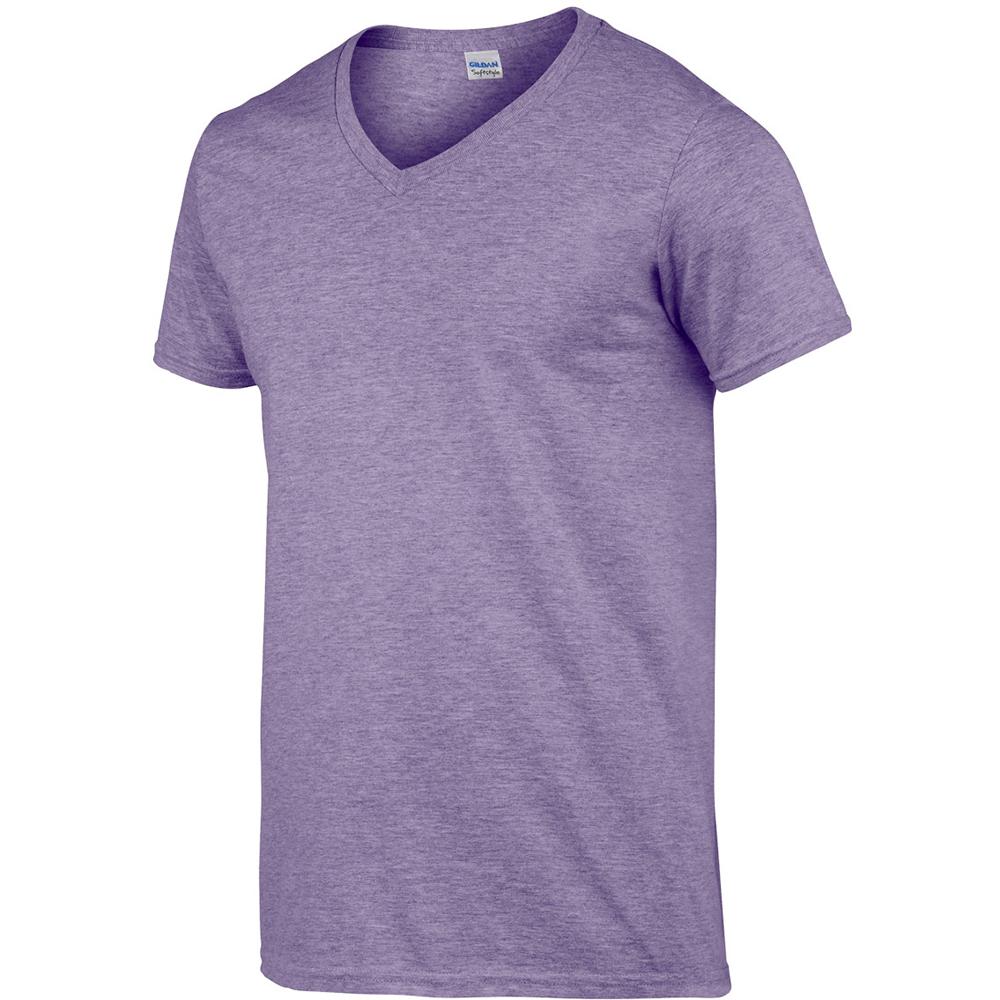 miniature 44 - T-shirt à manches courtes et col en V Gildan, 100% coton, pour homme (BC490)