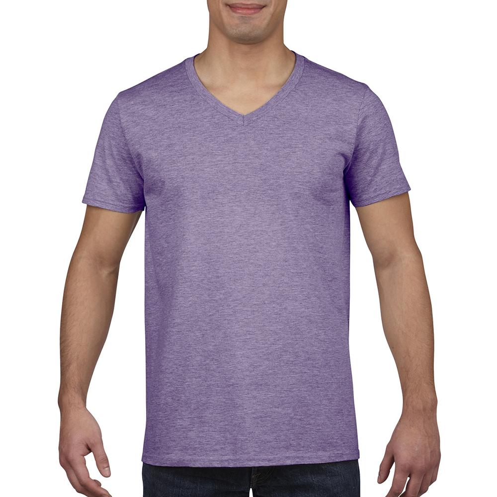 miniature 45 - T-shirt à manches courtes et col en V Gildan, 100% coton, pour homme (BC490)