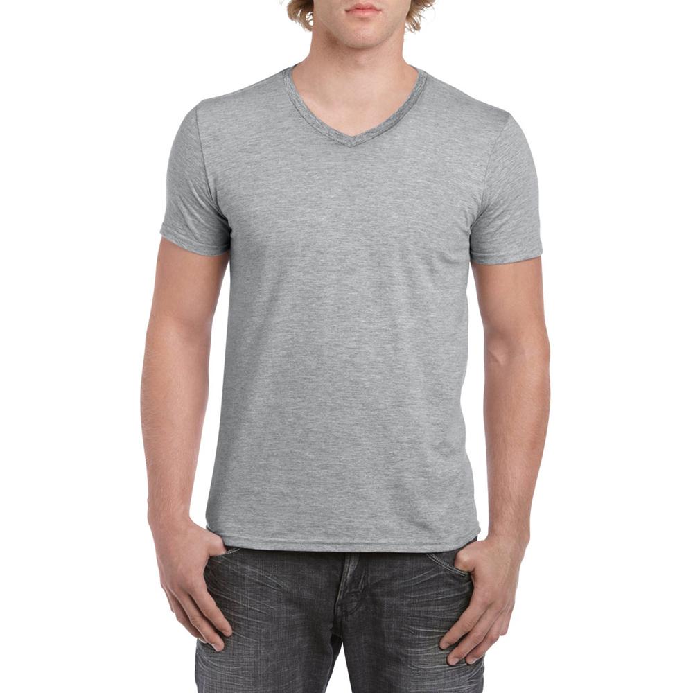 miniature 30 - T-shirt à manches courtes et col en V Gildan, 100% coton, pour homme (BC490)