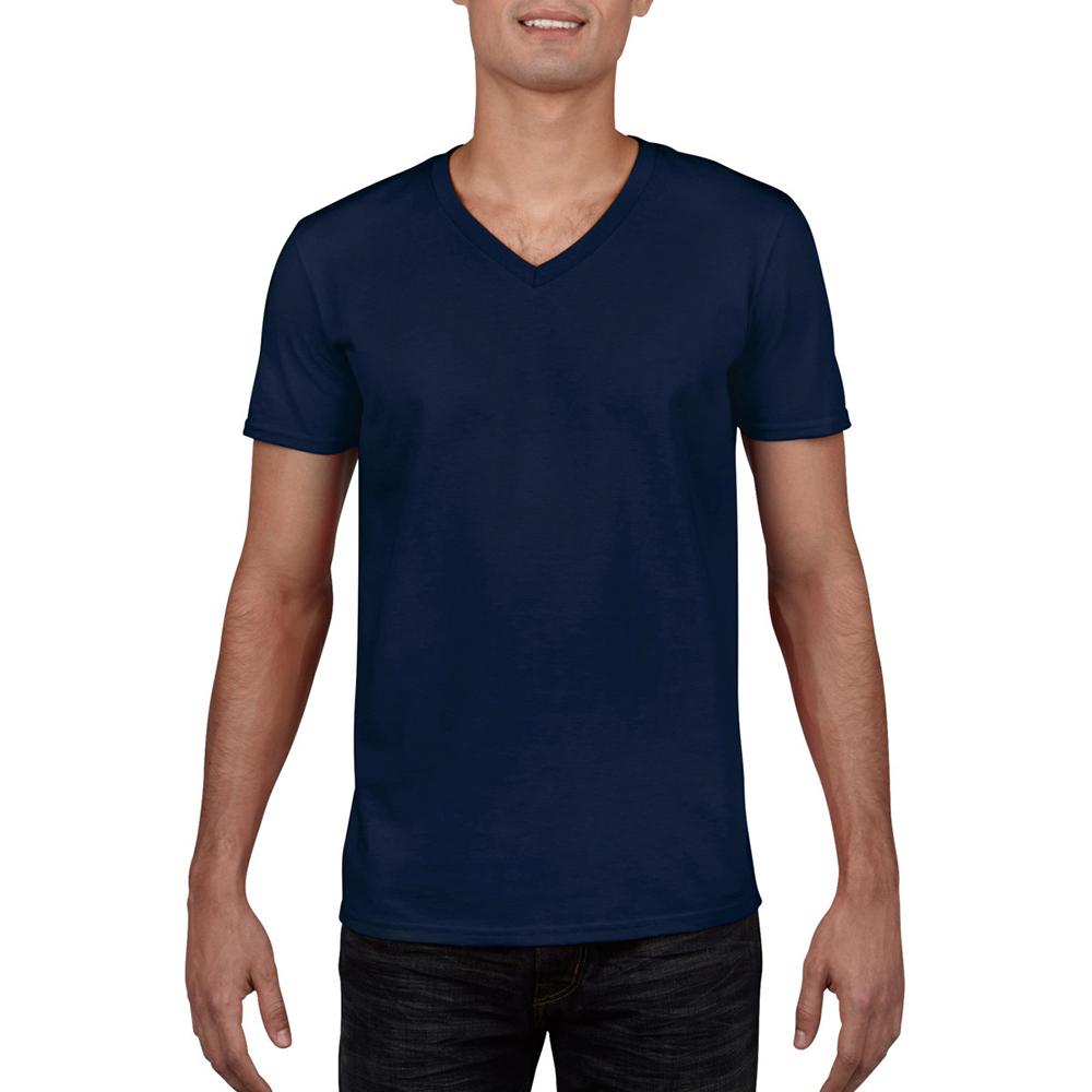 miniature 10 - T-shirt à manches courtes et col en V Gildan, 100% coton, pour homme (BC490)