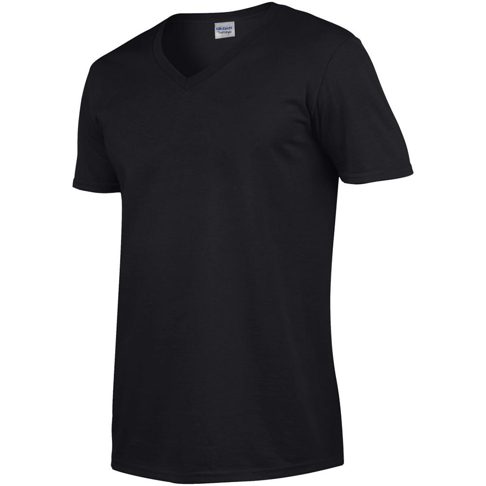 miniature 34 - T-shirt à manches courtes et col en V Gildan, 100% coton, pour homme (BC490)