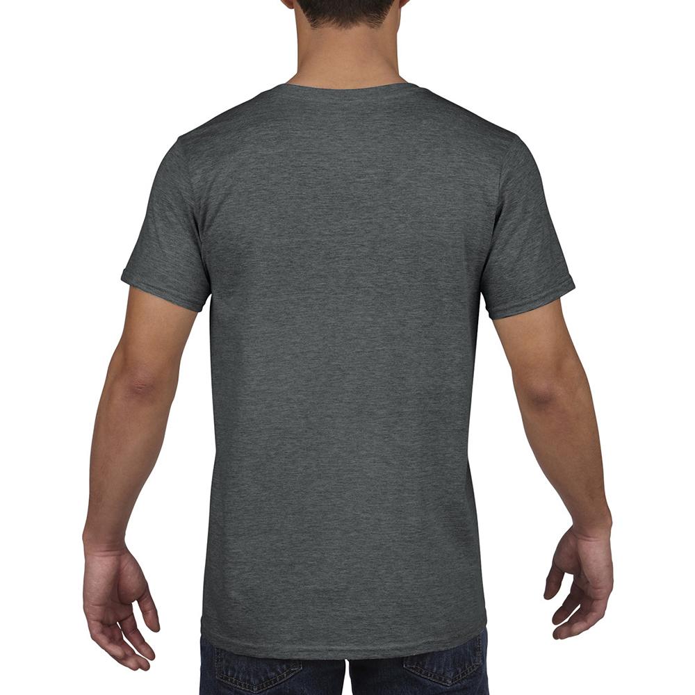 miniature 26 - T-shirt à manches courtes et col en V Gildan, 100% coton, pour homme (BC490)