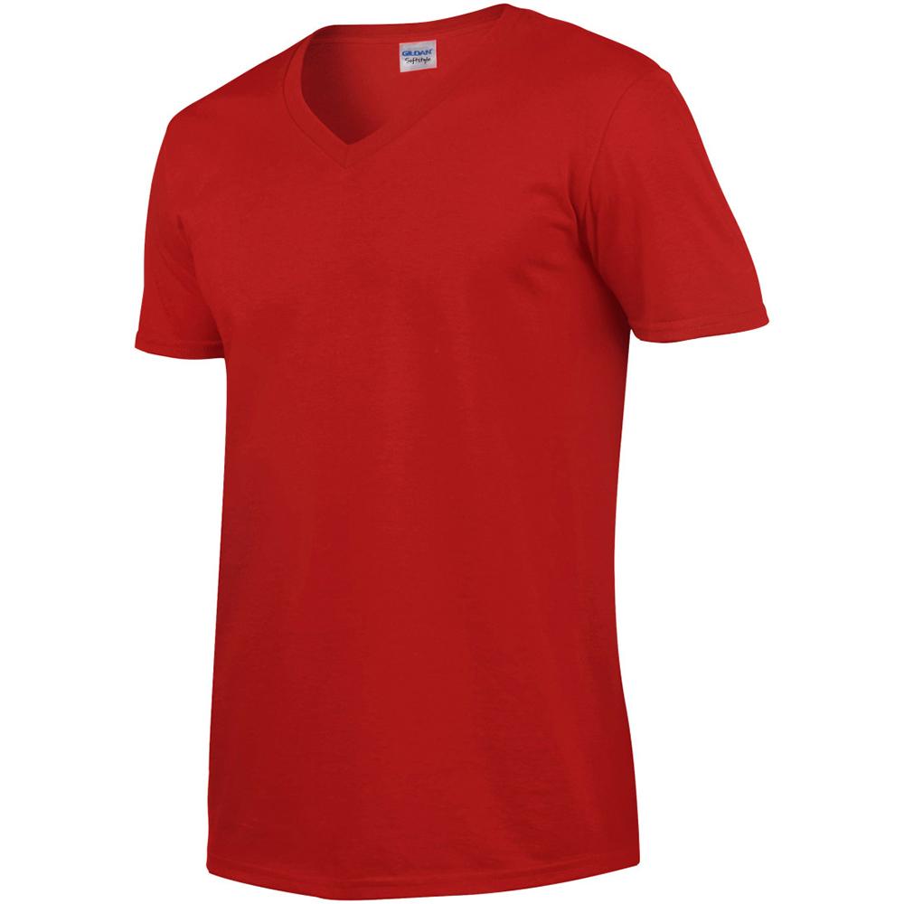 miniature 49 - T-shirt à manches courtes et col en V Gildan, 100% coton, pour homme (BC490)