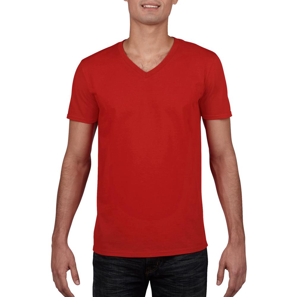 miniature 50 - T-shirt à manches courtes et col en V Gildan, 100% coton, pour homme (BC490)