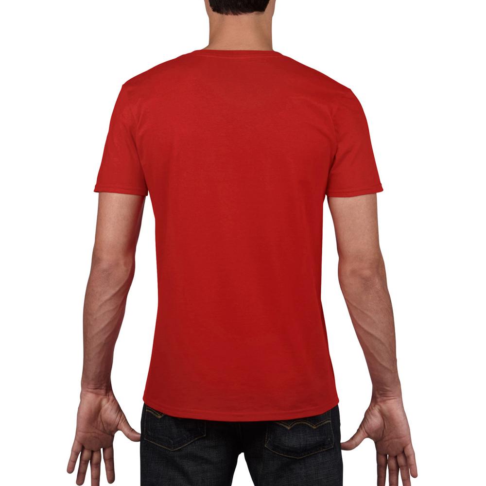 miniature 51 - T-shirt à manches courtes et col en V Gildan, 100% coton, pour homme (BC490)