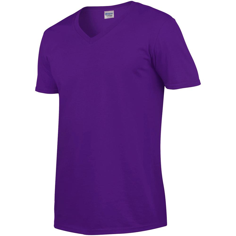 miniature 39 - T-shirt à manches courtes et col en V Gildan, 100% coton, pour homme (BC490)