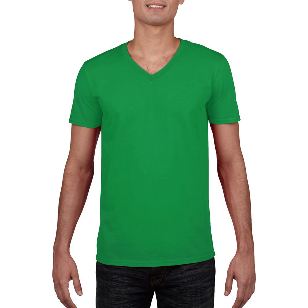 miniature 60 - T-shirt à manches courtes et col en V Gildan, 100% coton, pour homme (BC490)