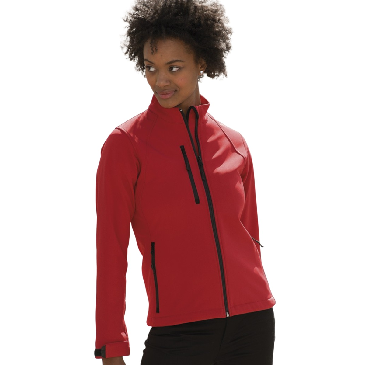 Jerzees Colours Ladies Water Resistant & Windproof Soft Shell Jacket (3XL) (Bottle Green)