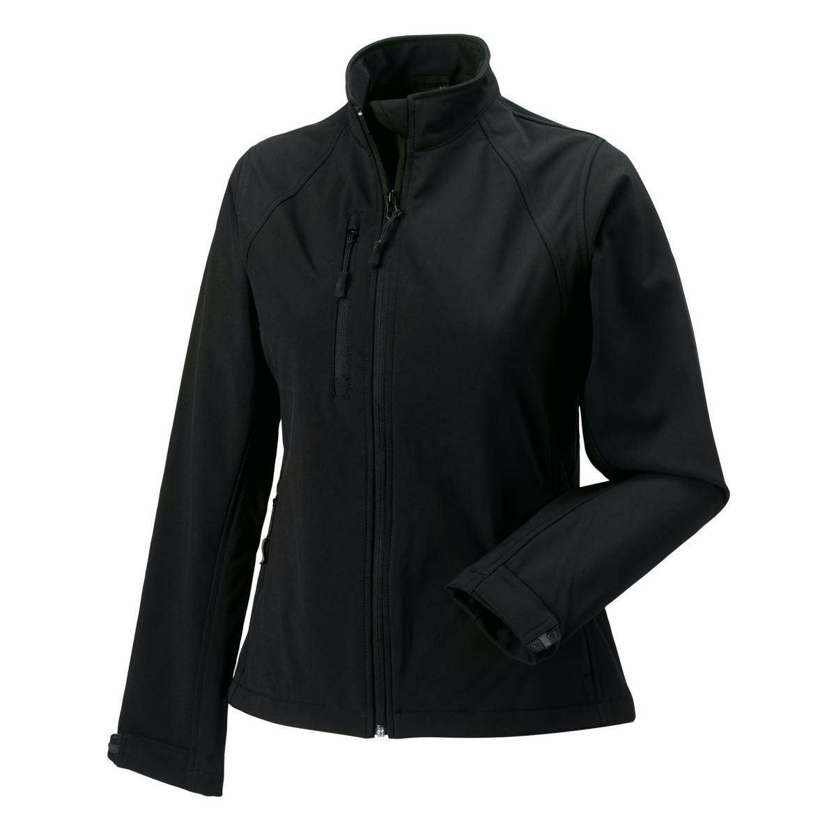 Jerzees Colours Ladies Water Resistant & Windproof Soft Shell Jacket (4XL) (Black)
