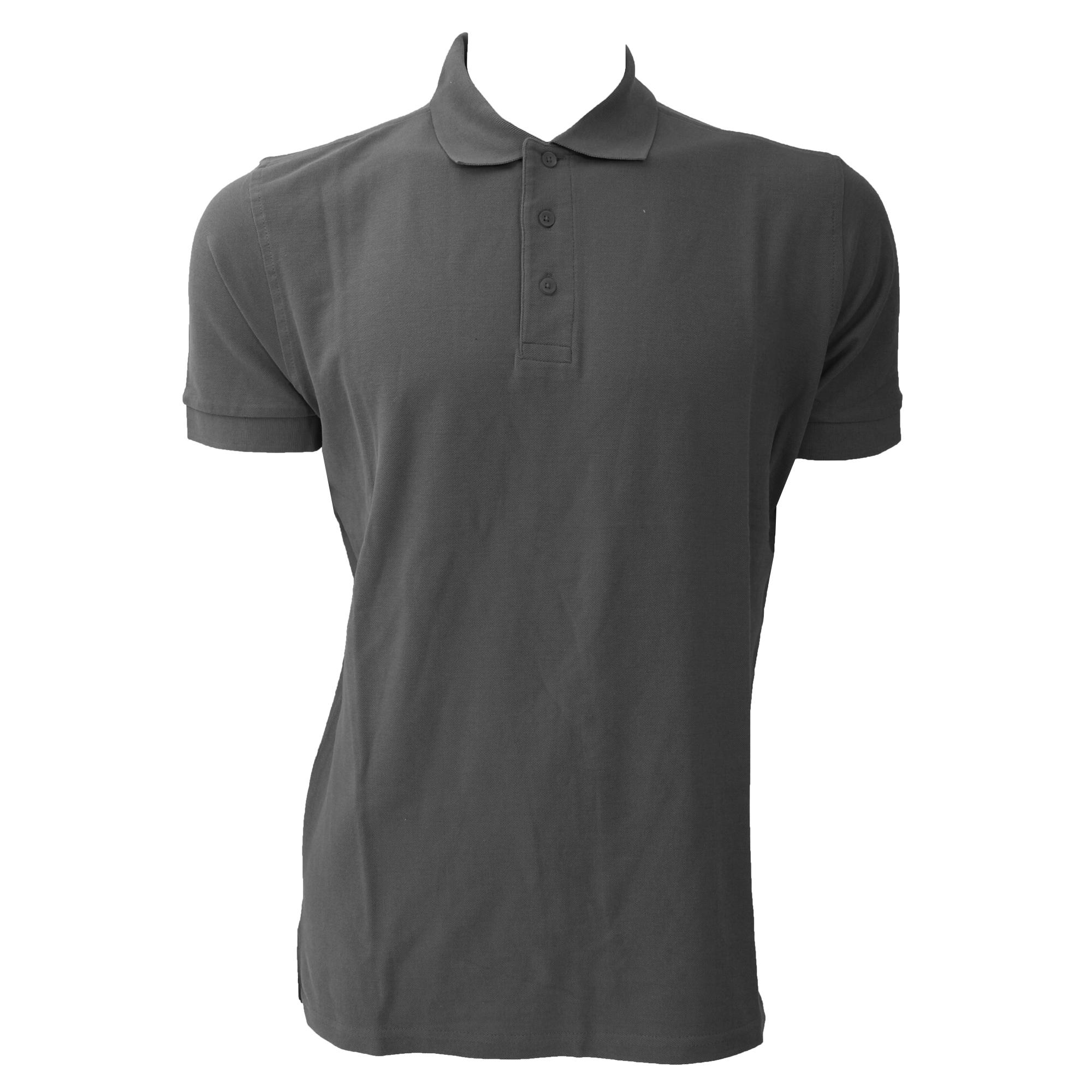 Jerzees Colours Mens Ultimate Cotton Short Sleeve Polo Shirt (XS) (Titanium)