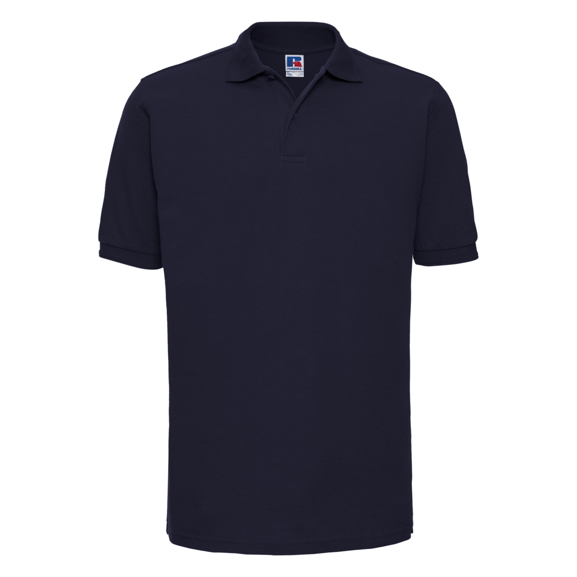 Russell Mens Ripple Collar & Cuff Short Sleeve Polo Shirt (3XL) (French Navy)