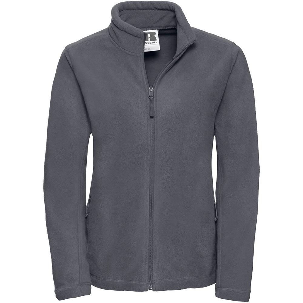 Russell Colours Ladies Full Zip Outdoor Fleece Jacket (XS) (Convoy Grey)
