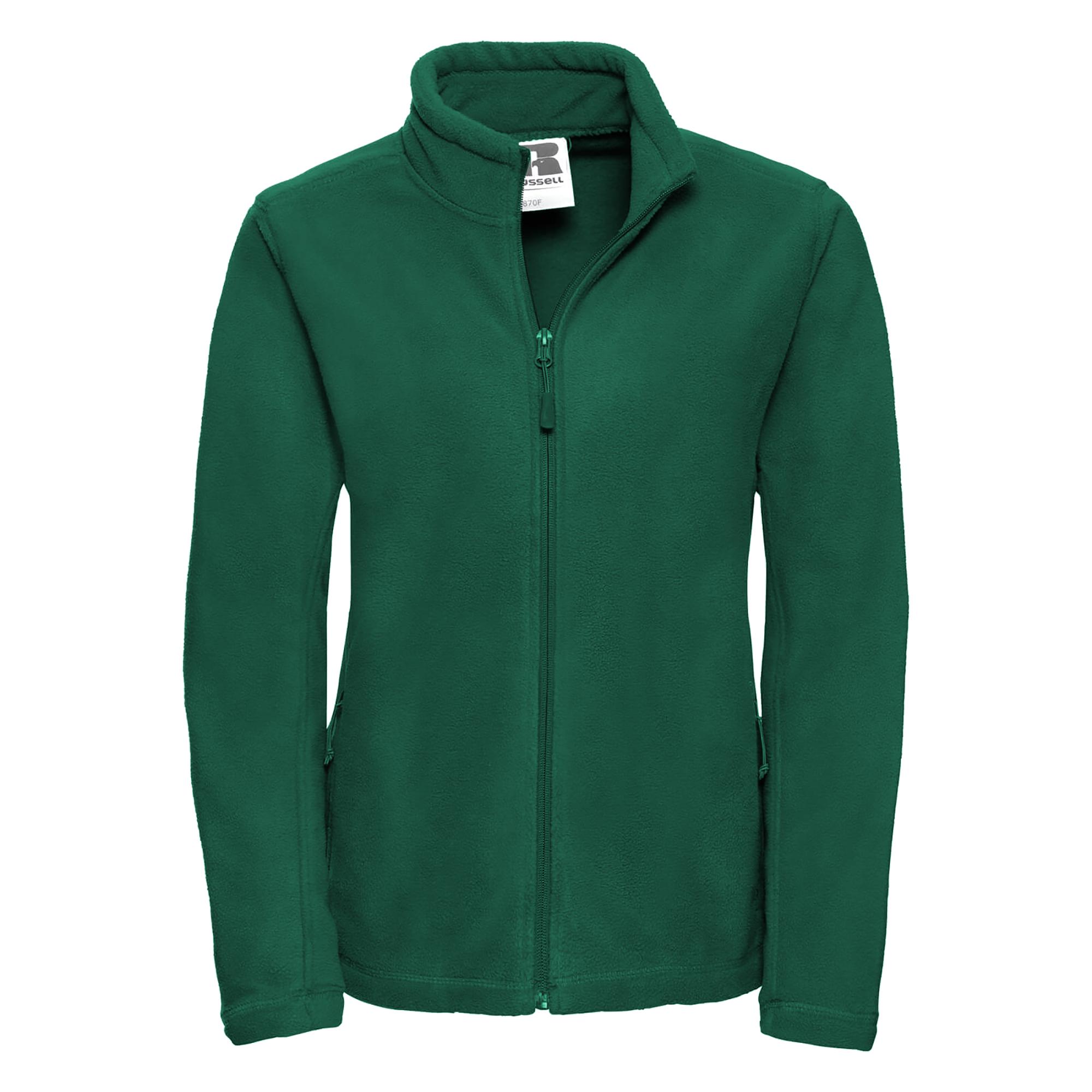 Russell Colours Ladies Full Zip Outdoor Fleece Jacket (M) (Bottle Green)
