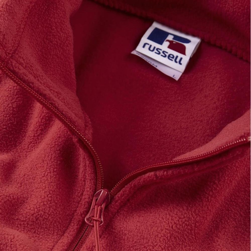 Russell Mens Full Zip Outdoor Fleece Jacket (S) (Classic Red)